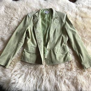 Light Green Suede Cropped Jacket So Cute size 12